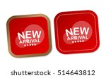 new arrival stickers | Shutterstock .eps vector #514643812