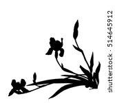 irises silhouettes ...   Shutterstock .eps vector #514645912