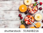 refreshing sangria or punch... | Shutterstock . vector #514648216
