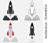 rocket  rocket icon. flat... | Shutterstock .eps vector #514648522