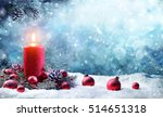 Advent Candle With Fir Branche...