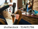 making hairstyle using hair... | Shutterstock . vector #514651786