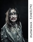 zombie woman with bloody face | Shutterstock . vector #514651792
