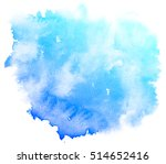 Abstract Blue Watercolor On...