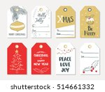 set of hand draw christmas and... | Shutterstock .eps vector #514661332