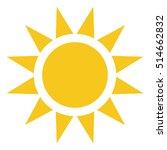 sun icon  vector  flat design