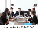 business meeting of diverse... | Shutterstock . vector #514671868
