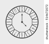 clock icon   outline isolated... | Shutterstock .eps vector #514672072