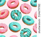 glazed donuts seamless | Shutterstock .eps vector #514679782