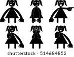 six figures with various...   Shutterstock .eps vector #514684852