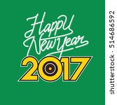 creative happy new year 2017... | Shutterstock .eps vector #514686592