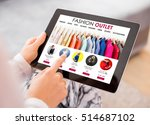 fashion outlet website on tablet | Shutterstock . vector #514687102