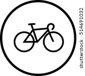 bicycle line icon | Shutterstock .eps vector #514691032