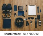 man student hipster outfit from ... | Shutterstock . vector #514700242