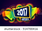 colorful of happy new year and... | Shutterstock .eps vector #514700416