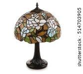 Tiffany Table Lamp Isolated