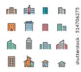 building icon set.line vector. | Shutterstock .eps vector #514706275