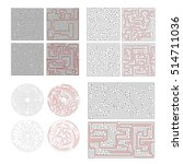 set of different labyrinths... | Shutterstock .eps vector #514711036