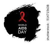 hand drawn red aids hiv ribbon  ... | Shutterstock .eps vector #514715638