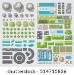 set of landscape elements.... | Shutterstock .eps vector #514715836
