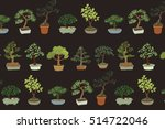 Bonsai Tree Vector Pattern