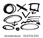 different grunge brush strokes ... | Shutterstock .eps vector #514741192