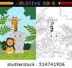 cartoon safari animal coloring...   Shutterstock .eps vector #514741906