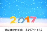 happy new year. colorful digits ... | Shutterstock . vector #514744642