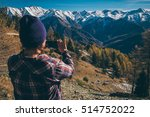 girl taking picture of the...   Shutterstock . vector #514752022