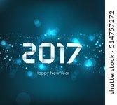 happy new year 2017 text design ...   Shutterstock .eps vector #514757272