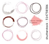 set of empty circles  vector... | Shutterstock .eps vector #514758586