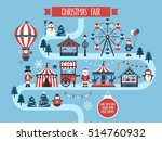 christmas market and holiday... | Shutterstock .eps vector #514760932