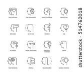human mind process  brain... | Shutterstock . vector #514762018