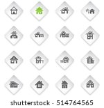 house type flat web icons for... | Shutterstock .eps vector #514764565