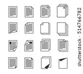 paper document  page icons set. ... | Shutterstock . vector #514766782