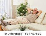 senior man at home. | Shutterstock . vector #514767592