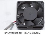 a small plastic fan on a metal... | Shutterstock . vector #514768282