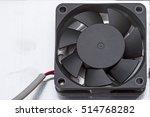 a small plastic fan on a metal... | Shutterstock . vector #514768282