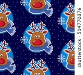 christmas seamless pattern with ... | Shutterstock .eps vector #514770376