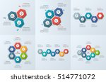 set of business infographic... | Shutterstock .eps vector #514771072