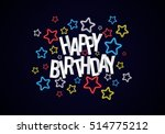 happy birthday greeting card on ... | Shutterstock . vector #514775212