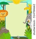 safari animals note   cute... | Shutterstock .eps vector #514784662