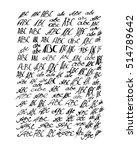 abc letters vector set | Shutterstock .eps vector #514789642