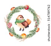 christmas and new year... | Shutterstock . vector #514789762