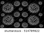 seamless circle pattern. arabic ... | Shutterstock .eps vector #514789822