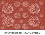 seamless circle pattern. arabic ... | Shutterstock .eps vector #514789852