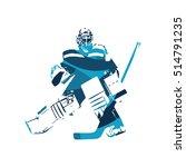 ice hockey goalie  abstract... | Shutterstock .eps vector #514791235