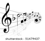 musical notes   Shutterstock .eps vector #51479437