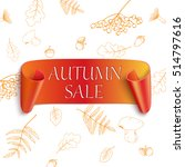 autumn sale sticker on autumn... | Shutterstock .eps vector #514797616