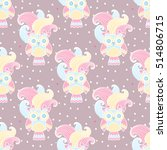 seamless pattern of colorful... | Shutterstock .eps vector #514806715